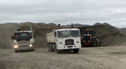 Global loading out gravel for a customer June 2012
